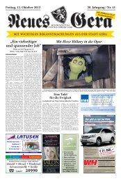 Freitag, 12. Oktober 2012 20. Jahrgang / Nr. 41 mit - Neues Gera