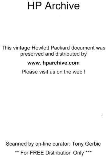 Operating and service manual thermal tip recorder 7414a hp archive manual sn prefix 0986a hp archive freerunsca Choice Image