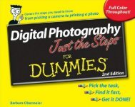 Digital Photography Just the Steps For