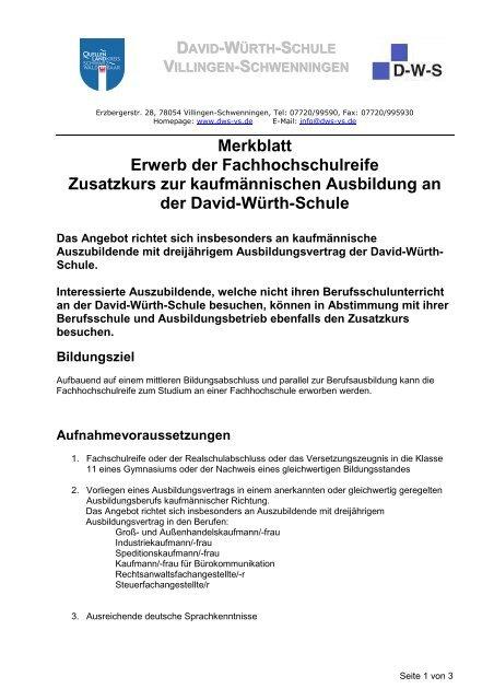 Prüfung Und Abschluss David Würth Schule