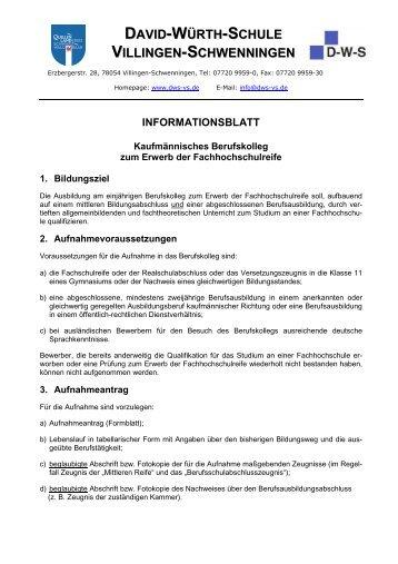 informationsblatt - David-Würth-Schule