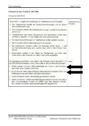 Formatieren einer Tabelle lt. DIN 5008