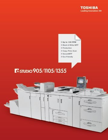 Up to 135 PPM Black & White MFP Production Copy, Print, Scan ...