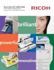 Ricoh Aficio MP C4000/C5000 - Ricoh USA