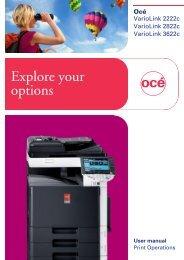User Manual Print Operations: VarioLink (VL) 2222c, VL2822c ... - Océ
