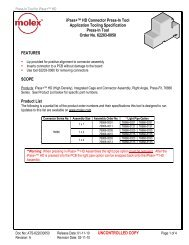 UNCONTROLLED COPY iPass+™ HD Connector Press-In ... - Molex