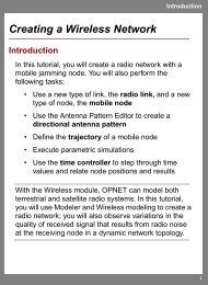 OPNET Tutorial: Creating a Wireless Network