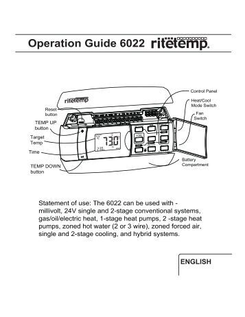 operation guide 3m 22 radio thermostat 6022 operation front page the ritetemp support site