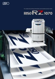 The RZ 1070 Exceptional print quality at an - Riso UK