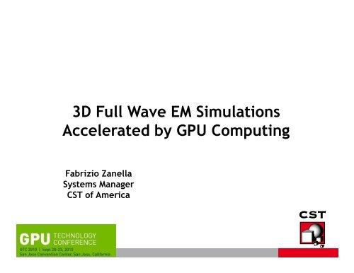 Accelerated by GPU Computing - NVIDIA