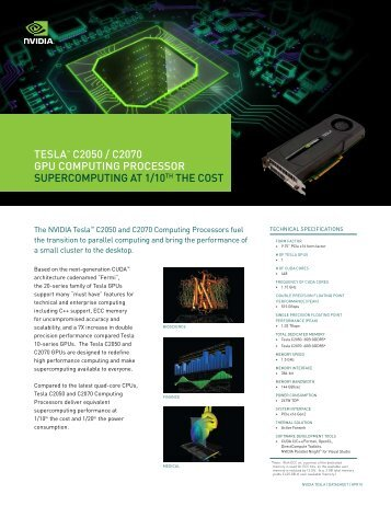 NV_DS_Tesla_C2050_C2070 (PDF) - MEGWARE Computer GmbH