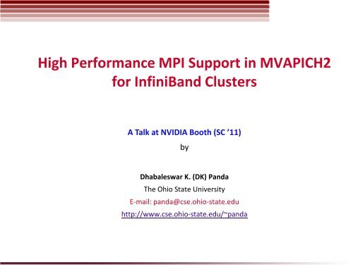 InfiniBand and 10-Gigabit Ethernet for Dummies
