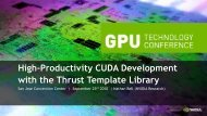 High-Productivity CUDA Development with the Thrust Template ...