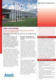 Alta tecnología - Ansell Healthcare Europe
