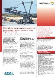 Energieversorgungsunternehmen - Ansell Healthcare Europe