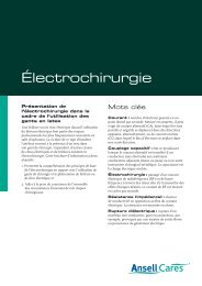 Téléchargez le document complet (pdf) - Ansell Healthcare Europe