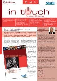 Tableau de résistance chimique actualisé - Ansell Healthcare Europe