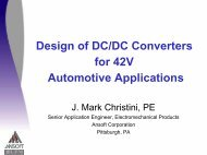 Presentation - Design of DC/DC Converters for 42V  Automotive ...