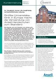 Größte Universitäts- klinik in Europa macht die Verwendung von ...