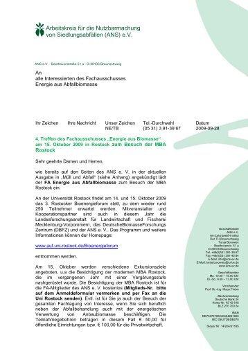 Einladung - ANS eV