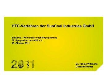 HTC-Verfahren der SunCoal Industries GmbH - ANS eV