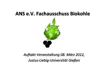 ANS e.V. Fachausschuss Biokohle