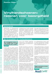 Vinylhandschoenen - Ansell Healthcare Europe