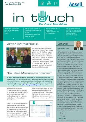 Editorial Gewinn mit Meeresblick Neu: Glove Management Programm
