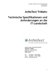 AnNoText TriMahn Technische Spezifikationen und Anforderungen ...