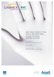 GAMMEX® powder-free Gloves with AMT Antimicrobial Technology