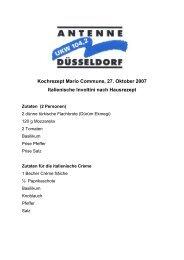 Kochrezept Mario Commune, 27. Oktober 2007 Italienische Involtini ...