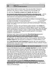 Lobpreis und Evangelium - Jesu Antrittspredigt - Anskar Kirche ...