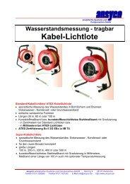 tragbar Kabel-Lichtlote - ANSYCO Analytische Systeme und ...