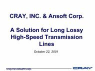 Presentation - A Solution for Long Lossy High-Speed Transmission ...