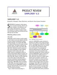 Simplorer 6.0 Product Preview