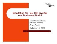 Simulation for Fuel Cell Inverter using Simplorer and Simulink