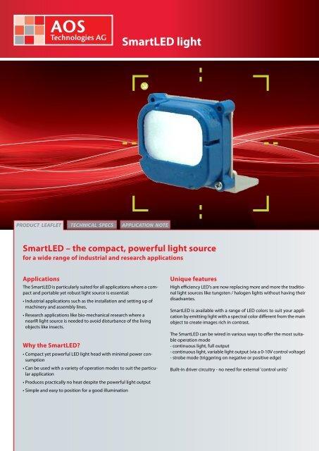 SmartLED light - AOS Technologies AG