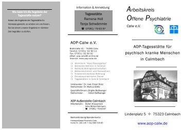 Arbeitskreis Offene Psychiatrie Calw eV - aop-calw.de