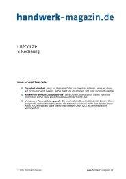 Checkliste E-Rechnung - Handwerk Magazin