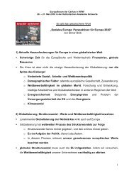 Soziales Europa - Perspektiven Europa 2020 (Elmar ... - Caritas NRW