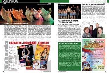 Kultour, Veranstaltungen, Ausstellungen, Bühnen von Regensburg