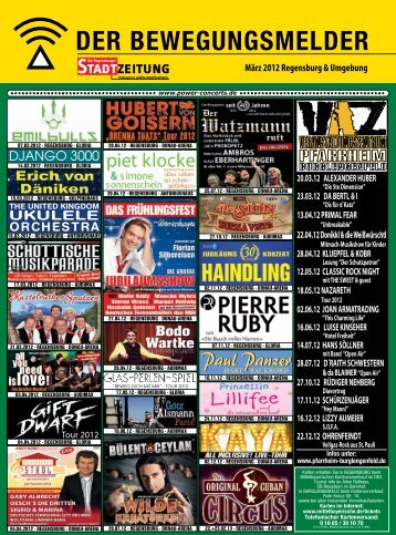 Programm, Bewegungsmelder (2195 kb) - Regensburger Stadtzeitung