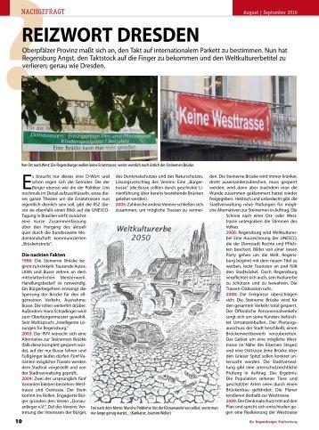 ReizwoRt DResDen - Regensburger Stadtzeitung