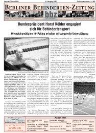 Februar - Berliner Behindertenzeitung