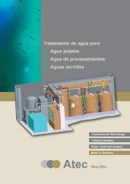 Tratamiento de aguas servidas sin agentes químicos Atec Advanced