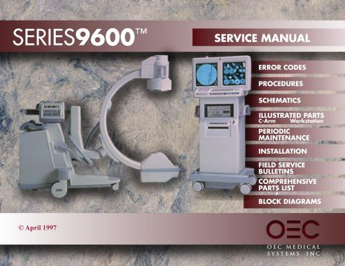 9600 Service Manual - gmecorp-usa com