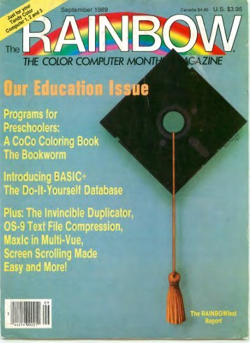 The Rainbow Vol. 09 No. 02 - September 1989 - TRS-80 Color ...
