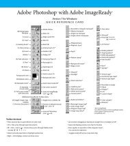 Adobe Photoshop 7.0 Quick Reference Card for ... - Cheat Sheet