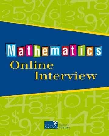 Mathematics Online Interview Booklet - Victoria Online