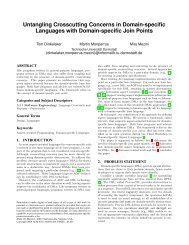 Untangling Crosscutting Concerns in Domain-specific Languages with